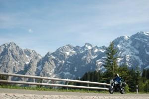 Rossfeld Panoramastraße auf dem Motorrad ©MTR