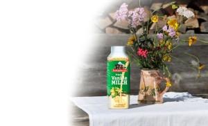 Frische Vanille-Bergbauern-Milch