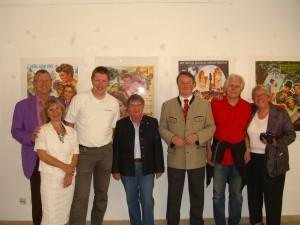 Dr. Christian Riml, Helma Türk, Josef Loibl, Beate Paprotka, OB Dr. Lackner, Max Berger, Antje Köstner