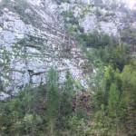 Felssturzes am Funtenseeweg am Königssee