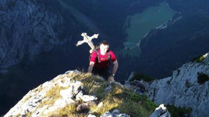 Aufstieg zum Mannlkopf oberhalb Scharitzkehl