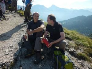 Lukas und Lars Meindl am Gipfel des Grünsteins