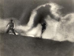 fantastische Kamera-Aufnahmen 1931, Der weisse Rausch, Foto Archiv Fanck