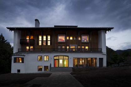 Haus Untersberg bei Nacht