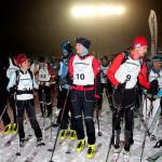 Vor dem Start Nachtrennens Skitouren-Festival