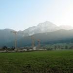 Bauarbeiten am Porsche Spielzeug Museum in Anger