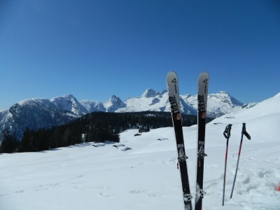 Mit den Touren-Ski auf der Kallbrunnalm