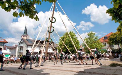 Maibaumaufstellen in Teisendorf ©Roha-Fotothek Fürmann