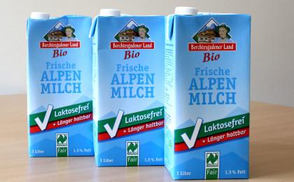 Laktosefreie Frische Bio Alpenmilch