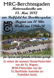 Motorradweihe auf dem Roßfeld