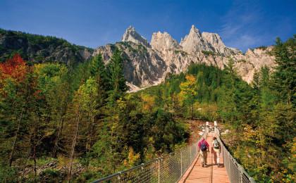 Hängebruecke im Klausbachtal © Nationalpark Berchtesgaden