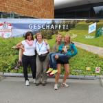 Maria Perreiter, Karin Mergner, Evi Kulina, Birgit Thanner vom Veranstaltungsteam