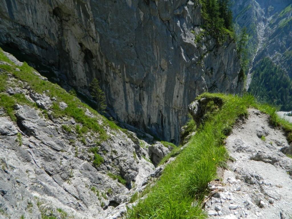 Abstieg von der Hochalmscharte ins Wimbachgries