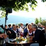 Bürgermeister Enzinger, Anger, im Gespräch mit Anja Marks, BR, und Stephan Köhl, BGLT