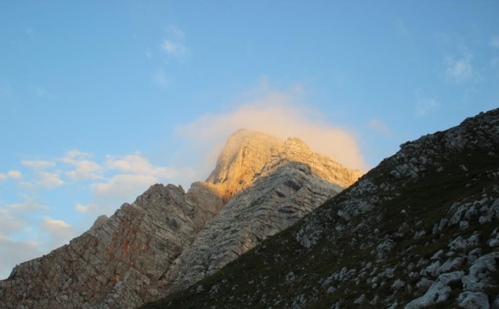 Das Breithorn in der Morgensonne