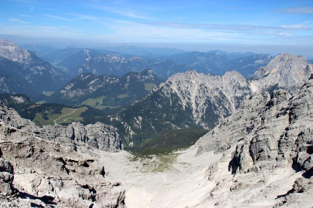 Blick vom Gipfel ins Hocheiskar