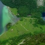 der schmale Streifen zwischen Königssee und Obersee © Vidicom