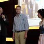 Stepahn Köhl, Christian Kleinert, Maria Stangassinger beim Gastgeberstammtisch im InterConti
