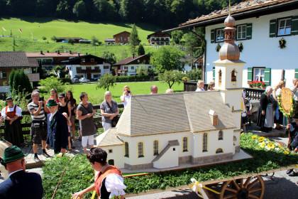 Modell der Pfarrkirche Ramsau