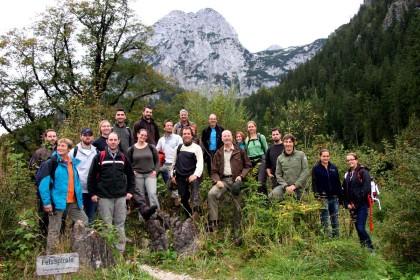 Angehende Natur- und Landschaftspfleger im Nationalpark Berchtesgaden