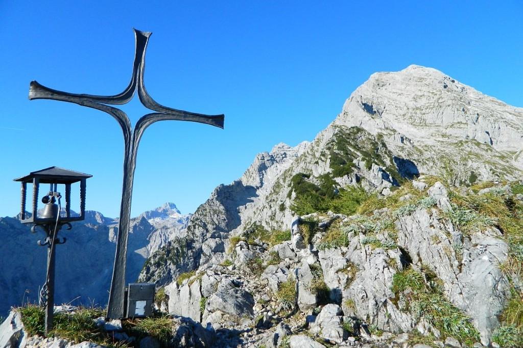 Mooslahner Gipfelkreuz vor kleinem Watzmann