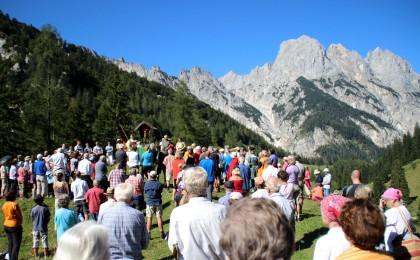 Bergmesse am Almkreuz der Bindalm