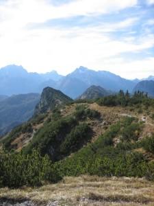 Blick vom Karkopf nach Süden zu Watzmann und Hochkalter
