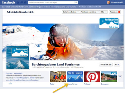 Facebookseite Berchtesgadener Land