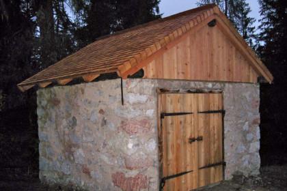 Die frisch renovierte Provianthütte am Watzmann