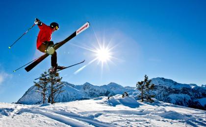 Skifahrer im Berchtesgadener Land