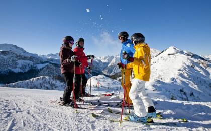 Skifahrer am Jenner