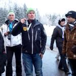 Ex-Bob Pilot Karl Angerer mit VIPs