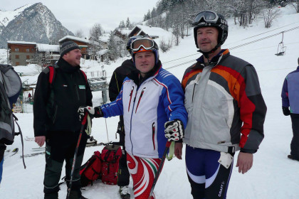 Team-Riesenslalom: Alois Hohenwarter (Mitte), Michael Datzmann (r.)