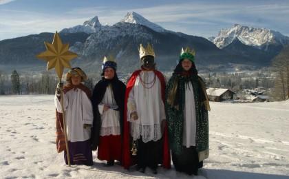 Die Heiligen Drei Könige vor dem Watzmann