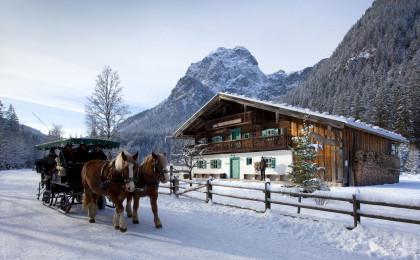 Pferdeschlitten im Klausbachtal
