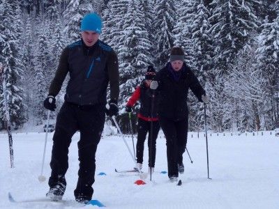 Langlaufen mit Olympiasiegerin Hilde Gerg