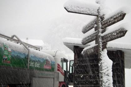 Milchabholung im Winter