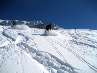 Pulverschnee auf den hohen Rossfeldern