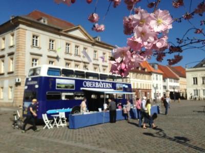 Oberbayern Bus im frühlingshaften Landau