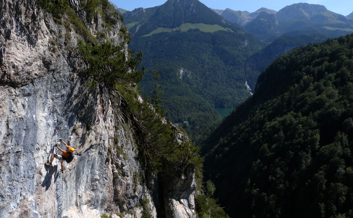 Klettersteigset Verleih Berchtesgaden : Grünstein klettersteig berchtesgadener land blog