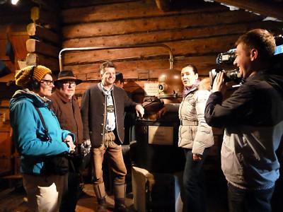 Das SWR Team beim Dreh mit Hubsi Ilsanker