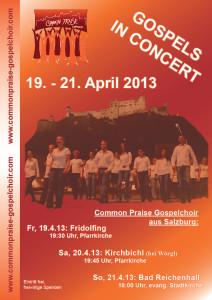 Plakat zu den Konzertterminen