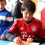 Ein kleiner Bayernfan im Bildungszentrum
