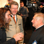 Thomas und Marcel Huber mit Alois Glück