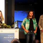 Doris Lackerbauer (Hochbauamt), Kletterer Thomas Huber, Umweltminister Marcel Huber