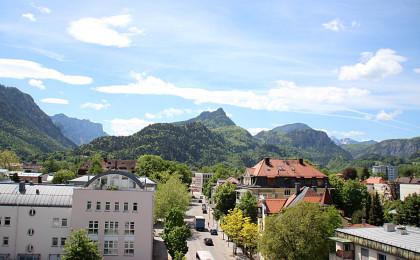 Blick über Bad Reichenhall zum Müllnerhorn
