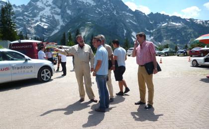 Joachim Althammer, Veranstalter des Roßfeldrennens mit dem Team der BR