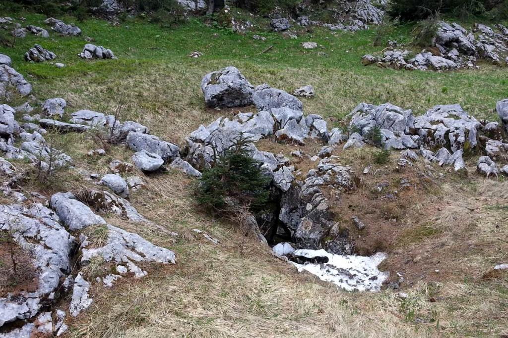 Die Totenlöcher auf dem Weg zum Vorderberghörndl
