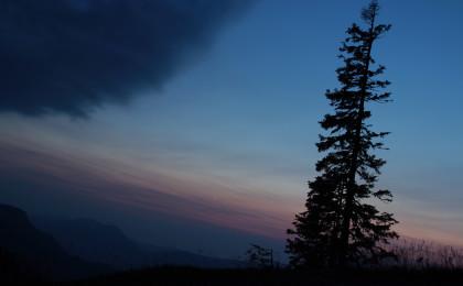 Abstieg vom Untersberg bei Nacht