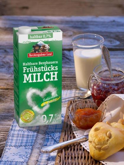 Haltbare Bergbauern-Frühstücksmilch